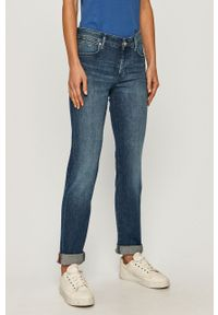 Niebieskie proste jeansy Marc O'Polo w kolorowe wzory