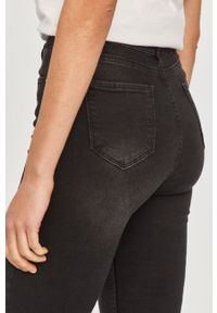 Czarne jeansy Answear Lab wakacyjne, z podwyższonym stanem #5