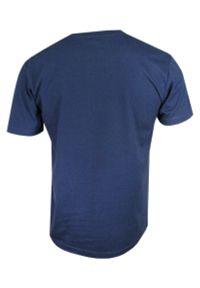 Niebieski t-shirt Stedman na co dzień, z krótkim rękawem
