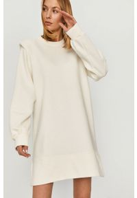 Biała sukienka Answear Lab na co dzień, gładkie, wakacyjna, prosta