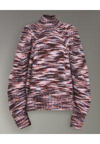 Brązowy sweter Burberry casualowy, z golfem, na co dzień