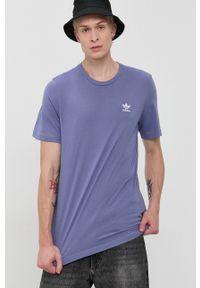 adidas Originals - T-shirt bawełniany. Okazja: na co dzień. Kolor: fioletowy. Materiał: bawełna. Wzór: gładki. Styl: casual
