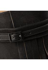Kazar - Klapki KAZAR - Eser 31925-03-00 Black. Kolor: czarny. Materiał: nubuk, skóra. Obcas: na obcasie. Styl: klasyczny, elegancki. Wysokość obcasa: średni