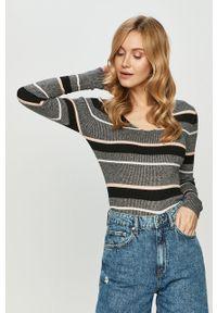 Szary sweter TALLY WEIJL długi, z długim rękawem
