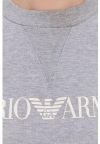Emporio Armani Underwear - Dres. Kolor: szary. Materiał: dresówka. Wzór: nadruk