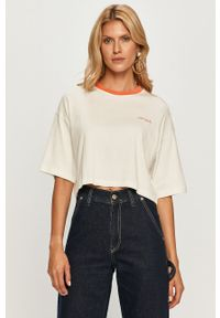 Bluzka Pepe Jeans z nadrukiem, na co dzień, casualowa