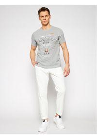 Aeronautica Militare T-Shirt 211TS1844J509 Szary Regular Fit. Kolor: szary