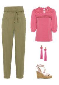 Zielone spodnie bonprix