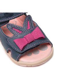 RenBut - Sandały RENBUT - 11-1557 Jeans 1. Kolor: niebieski. Materiał: skóra. Wzór: aplikacja #5