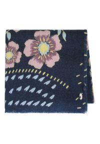 Wittchen - Damski szal w kwiaty. Okazja: na co dzień. Kolor: niebieski, różowy, wielokolorowy. Materiał: akryl. Wzór: kwiaty. Styl: klasyczny, elegancki, casual