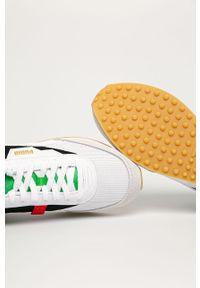 Wielokolorowe sneakersy Puma z cholewką, z okrągłym noskiem, na sznurówki