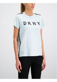 Niebieski t-shirt DKNY Sport sportowy