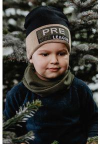 Czarna czapka Jamiks z nadrukiem