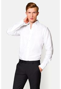 Lancerto - Koszula Biała Ester 2. Okazja: na co dzień. Kolor: biały. Materiał: bawełna, len, tkanina, wełna. Wzór: haft, ze splotem. Sezon: lato. Styl: wizytowy, elegancki, casual