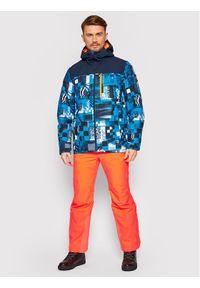Kurtka sportowa Quiksilver narciarska, w kolorowe wzory
