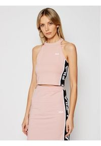 Fila Top Tama Cropped 687694 Różowy Slim Fit. Kolor: różowy