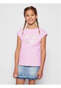 Emporio Armani T-Shirt 3H3T02 3J2IZ 0322 Fioletowy Regular Fit. Kolor: fioletowy