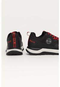 Czarne sneakersy Big-Star z okrągłym noskiem, na sznurówki, z cholewką