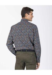PAUL & SHARK - Wzorzysta koszula z bawełny organicznej. Typ kołnierza: kołnierzyk koszulowy. Kolor: niebieski. Materiał: bawełna. Długość rękawa: długi rękaw. Długość: długie. Wzór: nadruk, kolorowy