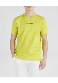 PAUL & SHARK - Bawełniany t-shirt z logo. Kolor: zielony. Materiał: bawełna. Sezon: wiosna, lato. Styl: sportowy