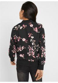 Czarny płaszcz bonprix z nadrukiem #5