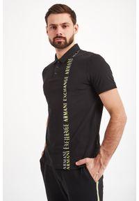 Koszulka polo Armani Exchange sportowa, w jednolite wzory