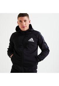 Adidas - Bluza z kapturem do fitnessu męska ADIDAS. Typ kołnierza: kaptur. Materiał: materiał. Sport: fitness