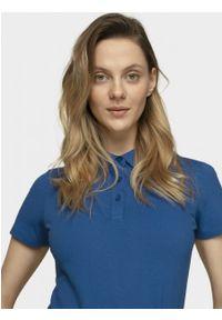 outhorn - Koszulka polo damska. Typ kołnierza: polo. Materiał: bawełna, dzianina, elastan