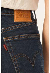 Niebieskie szorty Levi's® na co dzień, casualowe, z podwyższonym stanem, w kolorowe wzory