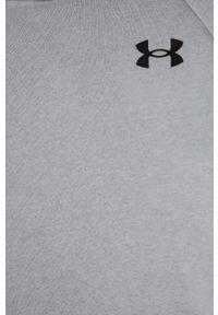 Szara bluza Under Armour z kapturem, gładkie