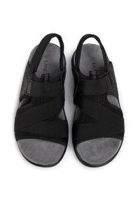 Czarne sandały Lanetti klasyczne, na co dzień