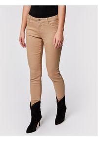 Brązowe jeansy slim Morgan