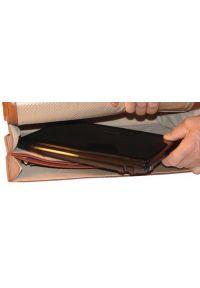 Teczka na laptopa MCKLEIN Lexington 17 cali Brązowy. Kolor: brązowy. Materiał: skóra, materiał. Styl: biznesowy, elegancki, casual