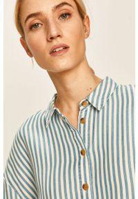 Niebieska koszula Vila casualowa, długa, z klasycznym kołnierzykiem, na co dzień #5