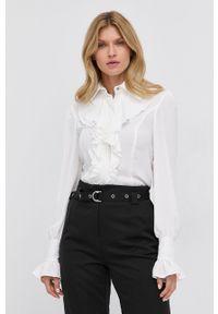 Silvian Heach - Koszula. Okazja: na co dzień. Kolor: biały. Materiał: tkanina. Długość rękawa: długi rękaw. Długość: długie. Wzór: gładki. Styl: casual