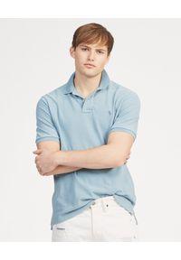 Ralph Lauren - RALPH LAUREN - Koszulka Polo Slim Fit. Typ kołnierza: polo. Kolor: niebieski. Materiał: bawełna. Wzór: haft, aplikacja
