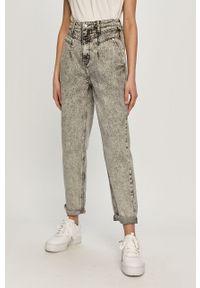 Szare jeansy loose fit TALLY WEIJL z podwyższonym stanem