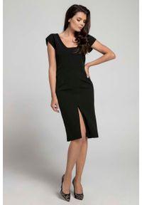 Czarna sukienka Nommo z dekoltem na plecach, wizytowa