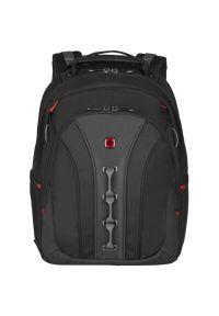 Czarny plecak na laptopa Wenger elegancki