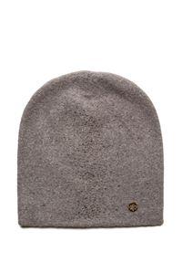 Szara czapka Granadilla klasyczna, z aplikacjami, na zimę