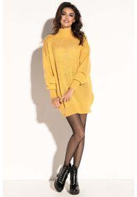 Żółta sukienka dzianinowa Fobya mini
