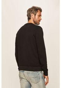 Czarna bluza nierozpinana Armani Exchange casualowa, na co dzień, z nadrukiem, bez kaptura