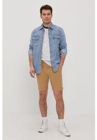 Beżowe szorty Tommy Jeans na co dzień, casualowe, gładkie