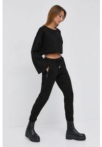 Silvian Heach - Spodnie. Kolor: czarny. Materiał: dzianina