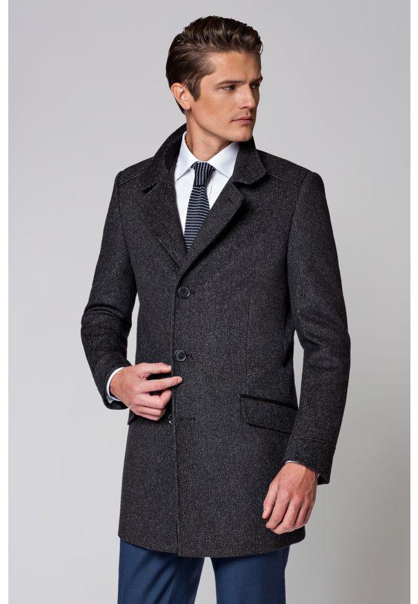Szary płaszcz Lancerto elegancki, na zimę