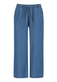 Soyaconcept Spodnie do kostki z dodatkiem włókien lyocellu Liv denim blue female niebieski XL (44). Kolor: niebieski. Materiał: włókno, denim