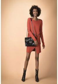 Pinko - PINKO - Bluzka Geranio. Okazja: na co dzień. Kolor: czerwony. Materiał: materiał. Długość rękawa: długi rękaw. Długość: długie. Styl: elegancki, casual
