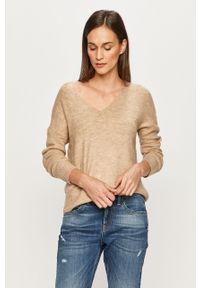 Beżowy sweter Jacqueline de Yong z długim rękawem, długi
