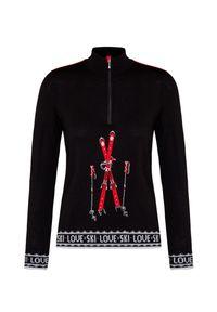 Czarny sweter Newland z nadrukiem, vintage