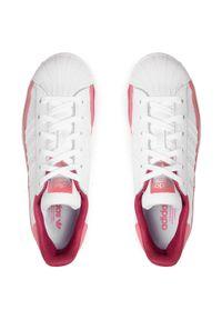 Adidas - Buty adidas - Superstar J FX5893 Ftwwht/Ftwwht/Hazros. Zapięcie: pasek. Kolor: biały. Materiał: skóra. Szerokość cholewki: normalna. Styl: młodzieżowy